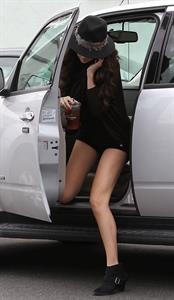 Selena Gomez leaving Panera Bread in LA 2/2/13