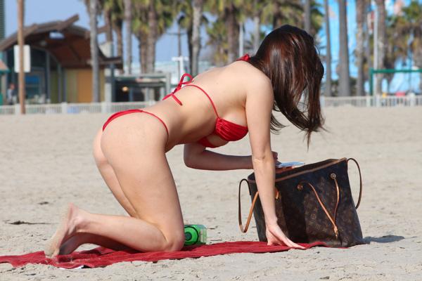 Amy Markham in a bikini