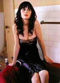 Zooey Deschanel in lingerie - breasts