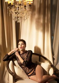Lydie Pages in lingerie