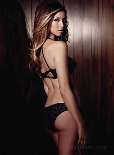 Whitney Port in lingerie