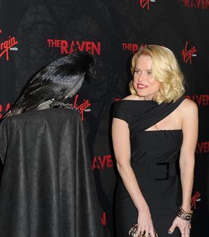 Alice Eve the Raven Los Angeles premiere on April 23, 2012