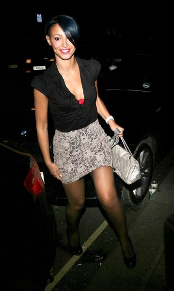 Amelle Berrabah London candids Feb 6th 2010