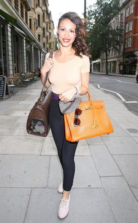 Amelle Berrabah Percy Reed Hair Salon in London on Aug 15, 2011