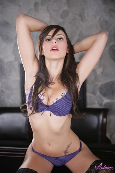 Autumn Riley in lingerie