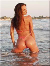 Sanja Matice in a bikini - ass