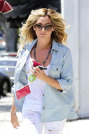 Ashley Tisdale shopping along Robertston Blvd in West Hollywood May 20, 2012