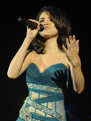 Selena Gomez Hammersmith Apollo concert in London, England on October 20, 2010