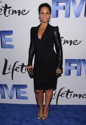 Alicia Keys attends Lifetime's Five premiere held at the SOHO Skylight in New York on September 26, 2011