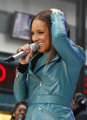 Alicia Keys performs on the NBC Today Show in New York