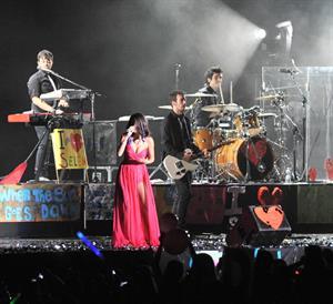 Selena Gomez performing in Montevideo Uruguay on February 11, 2012