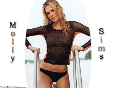 Molly Sims in lingerie - breasts