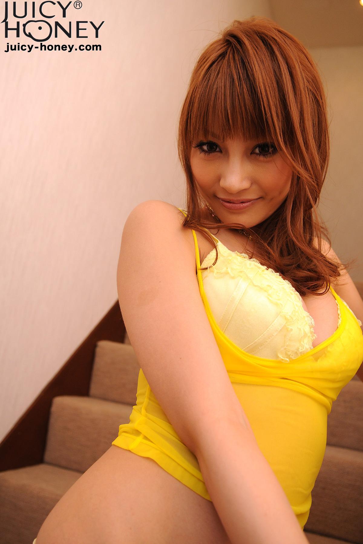 Asuka Kirara in yellow lingerie