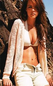 Isabel Lucas in a bikini