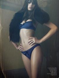 Kenza Fourati in lingerie