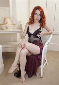 Amarna Miller in lingerie