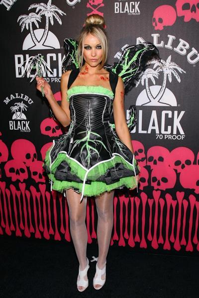 Katrina Bowden in her Halloween costume