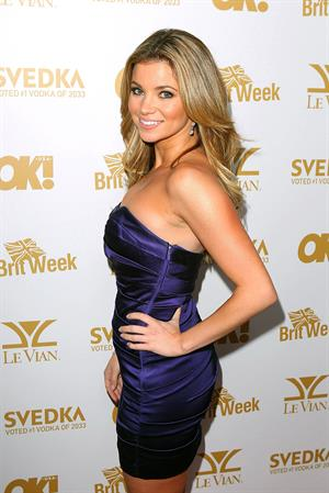 Amber Lancaster OK Magazine and Britweek Oscars party at the London West Hollywood on February 25, 2011