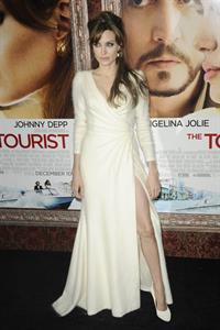 Angelina Jolie the Tourist world premiere in New York on December 6, 2010