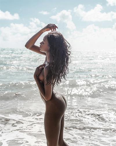 Alencia Lewis in a bikini