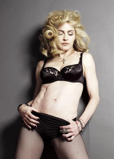Madonna in lingerie