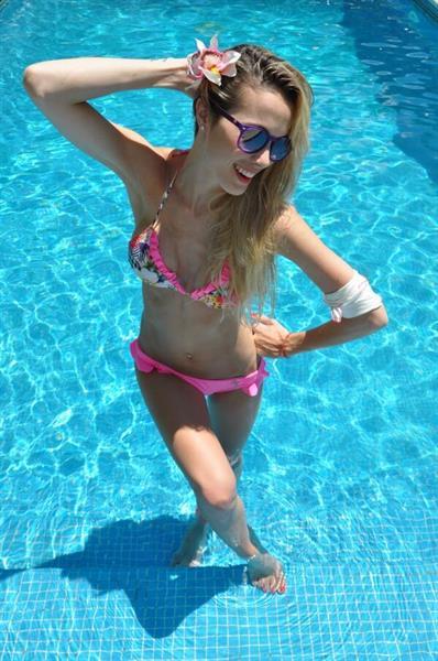 Cecilia Bonelli in a bikini
