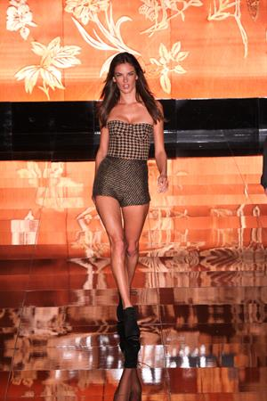 Alessandra Ambrosio on the runway at Colcci Fashion Show on January 30, 2011