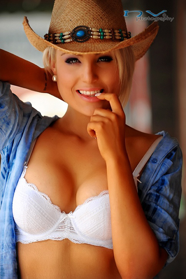 Carol Marie in lingerie