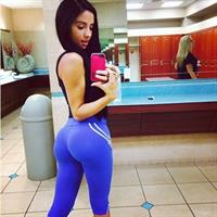 Bruna Lima in Yoga Pants taking a selfie and - ass