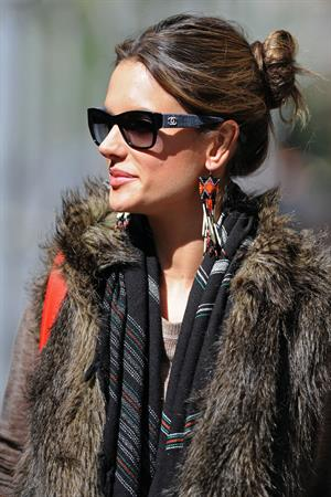 Alessandra Ambrosio leaves an appearance at the Victoria's Secret Store April 24, 2010