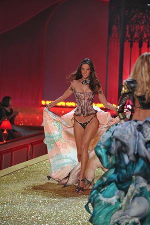 Alessandra Ambrosio runway at a Victoria's Secret Fashion show in 2010