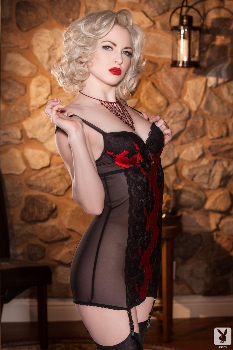 Carissa White in lingerie