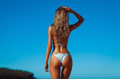 Renee Somerfield in a bikini - ass