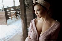 Playboy Cybergirl Olga Ogneva Nude on a snowy day