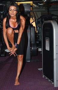 Sherlyn Chopra in Yoga Pants