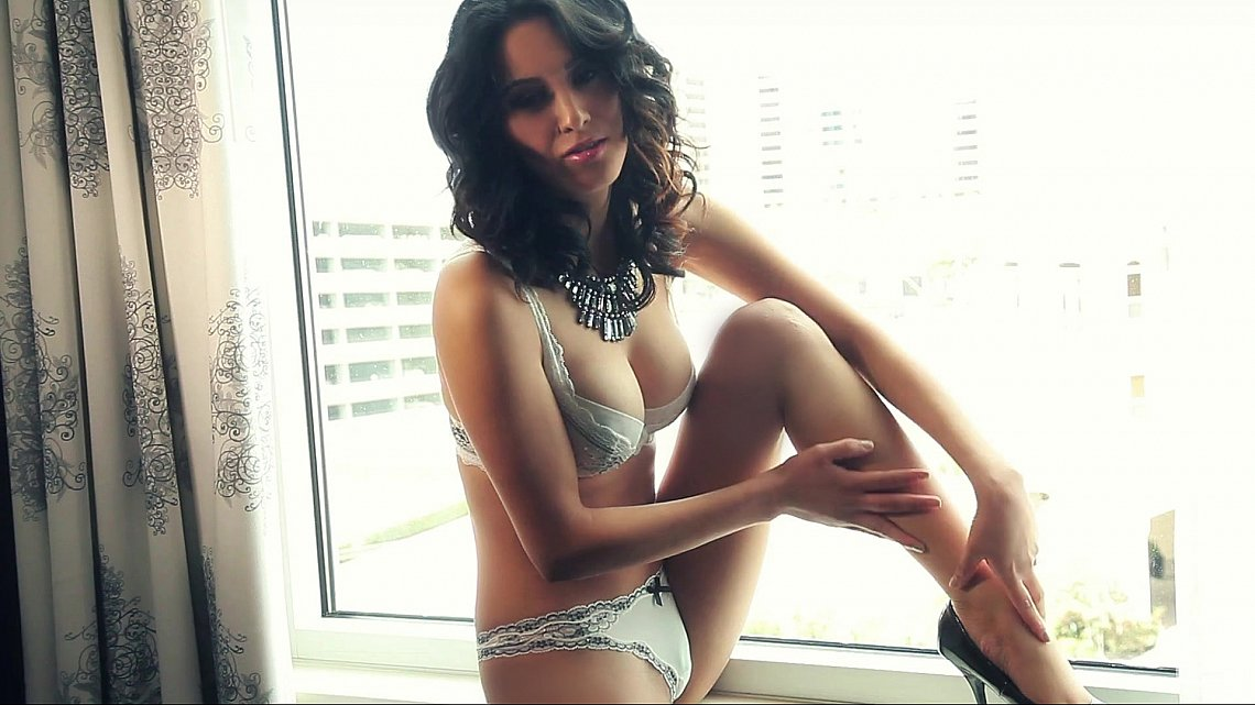 Samantha Leon in lingerie