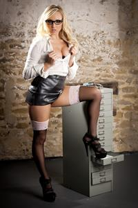 Danni King in lingerie