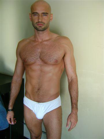 Christian Monzon in lingerie