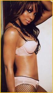 Elise Neal in lingerie