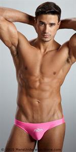 Lucas Gil in lingerie