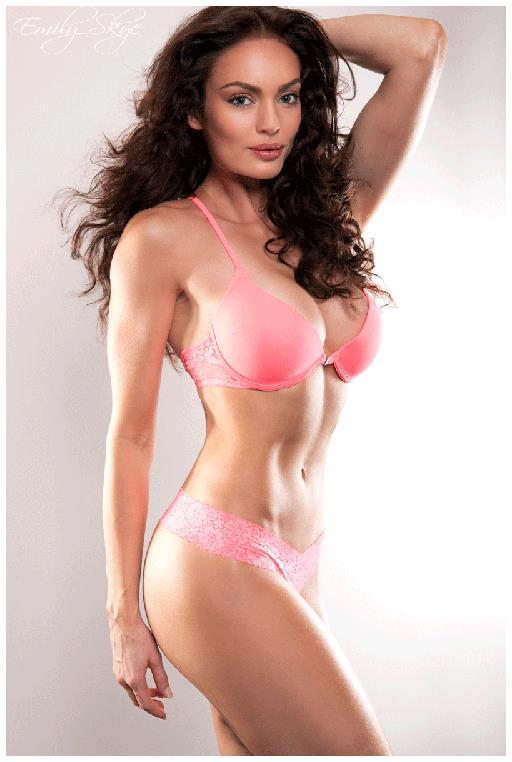 Emily Skye in lingerie