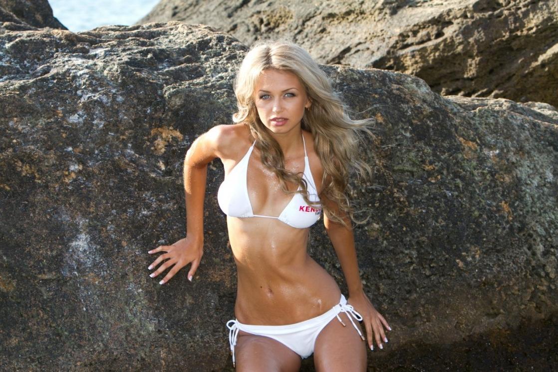 Lyubov Gulyak in a bikini