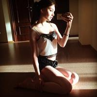 Polina Litvinova taking a selfie