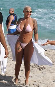 Amber Rose in a bikini