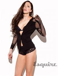 Portia Doubleday in lingerie
