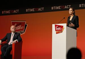 Angelina Jolie at the Global Summit To End Sexual Violence In Conflict June 12, 2014