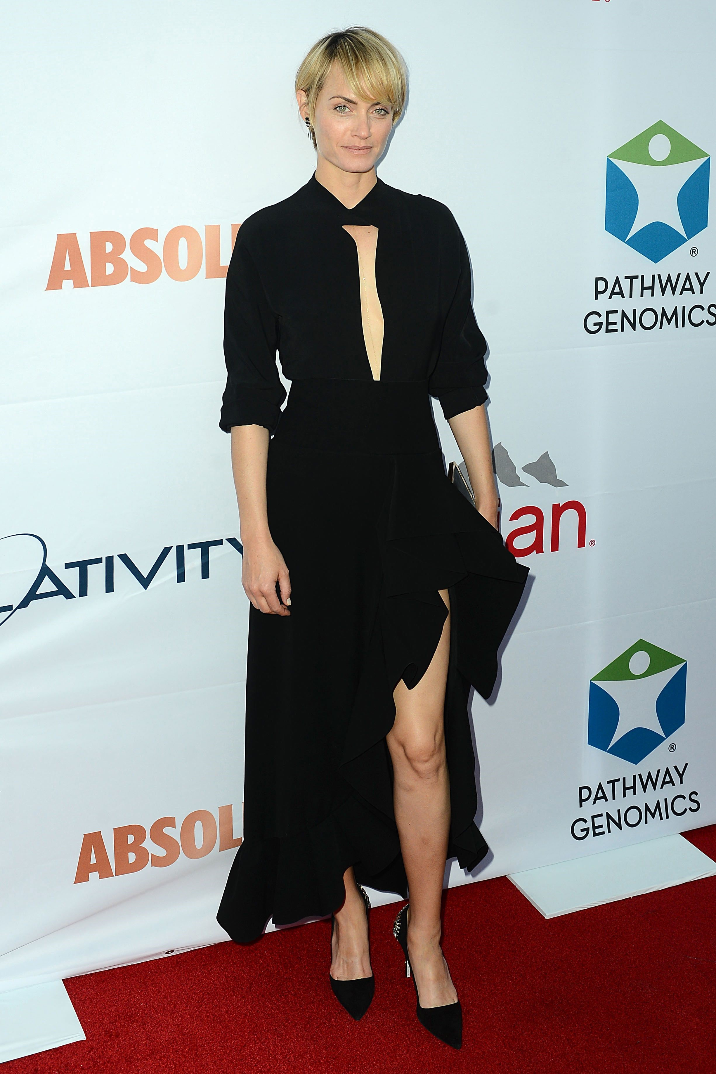 Amber Valetta attending Pathway to the Cure Benefit at Santa Monica Airport June 11, 2014