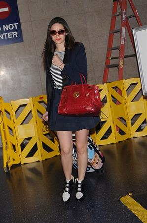 Emmy Rossum arriving at LAX, June 11, 2014