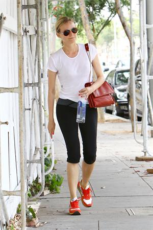 Diane Kruger heads to her car following a morning workout in L.A. June 10, 2014