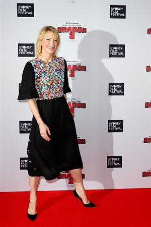 Cate Blanchett attending the How To Train Your Dragon 2 Australian premiere June 9, 2014